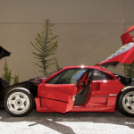 Red Ferrari F40 front and rear open