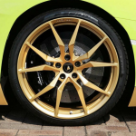Lamborghini Aventador Miura Homage gold wheels