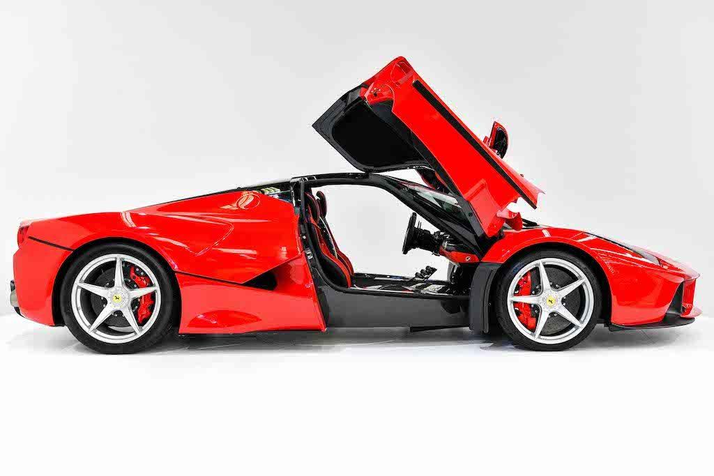 Ferrari LaFerrari for sale side view doors open