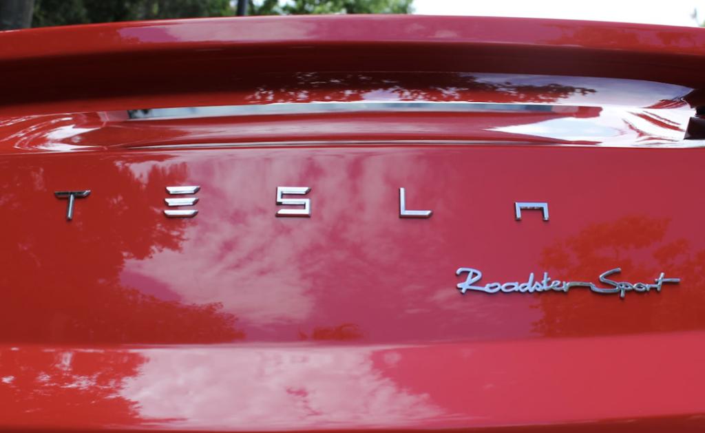 Tesla Roadster Sport Australia for Sale in Red rear angle